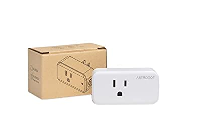 ASTRODOT Smart Plug w/ Energy Monitoring, No Hub Required, Wi-Fi, Compatible with Alexa and Google Assistant, Control your Devices from Anywhere