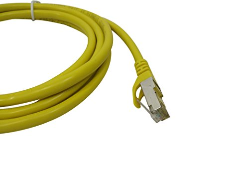 Cat7 Snagless Shielded (Sstp/sftp) Ethernet Patch Cable in Yellow 10 Feet