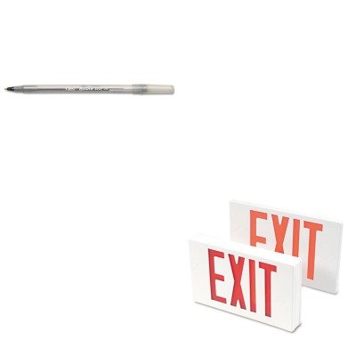 - KITBICGSM11BKTCO07230 - Value Kit - Tatco LED Exit Sign (TCO07230) and BIC Round Stic Ballpoint Stick Pen (BICGSM11BK)