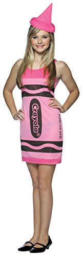Crayola Crayon Tank Dress Teen/Junior Costume Tickle Me Pink - Teen