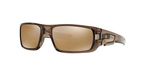Oakley Men's Crankshaft 0OO9239 Polarized Iridium Rectangular Sunglasses, BROWN SMOKE, 60mm by Oakley