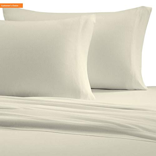 Mikash New Soft Cotton Jersey Knit (T-Shirt) Sheet Set, Queen, Ivory | Style 84598756