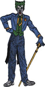 Batman Dark Knight DC Comics Movie Iron On Patch - Joker Standing Applique