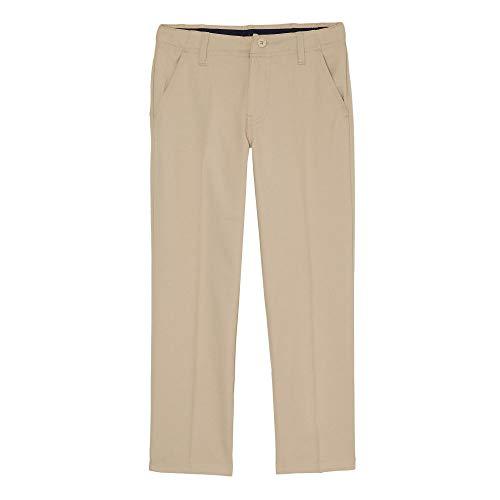 - French Toast Boys' Big Straight Leg Performance Stretch Pant, Khaki, 10