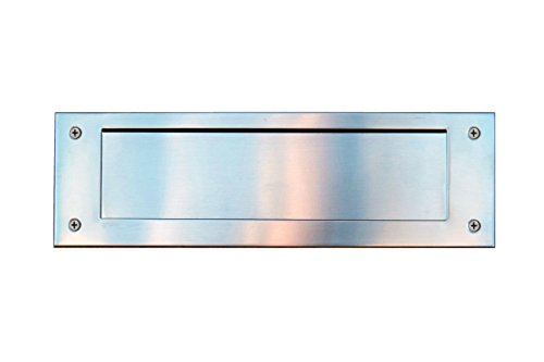 Got It Wholesale Stainless Steel Door Mail Slot (front & rear pieces), Letter Box Plate Compatible With Any Door Type, 13 in. W x 4 in. (Standard Mail Slot)