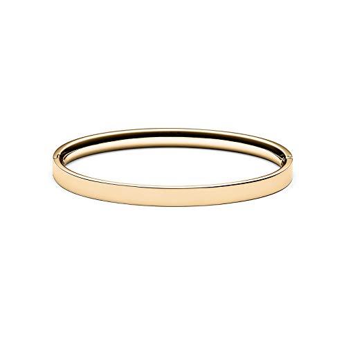 MVMT Women's Ellipse Bangle Bracelet | Clasp Closure, Stainless Steel | Gold