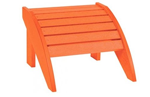 MD Group New Orange Plastic Ergonomically Designed Completely Waterproof Stainless Steel Hardware Footstool by MD Group