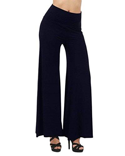 Sciolto Dunkelblau Waist High Libero Colori Pantaloni Tempo Primaverile Solidi Autunno Hippie Eleganti Grazioso Baggy Aladin Fashion Moda Palazzo Donna fwXOqaYUX