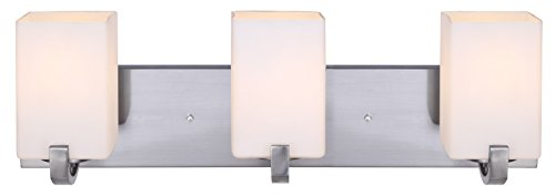 - Canarm IVL422A03BN Palmer 3-Light Bath Vanity, Brushed Nickel