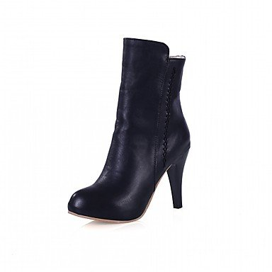RTRY Women's Shoes PU Leatherette Fall Winter Comfort Novelty Fashion Boots Boots Stiletto Heel Round Toe Booties/Ankle Boots Zipper For Party US7.5 / EU38 / UK5.5 / CN38