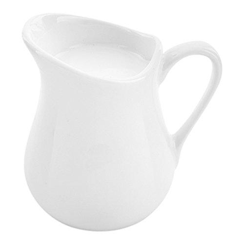 (Porcelain Creamer, Creamer Cup - White - 4 oz - 1ct Box - Restaurantware)