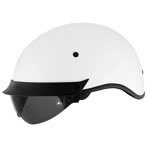 Cyber Solid with Internal Shield U-72 Open Face Motorcycle Helmet - White / Large