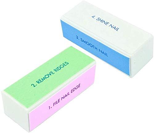 SWEET PEA – SET OF 2 Nail Buffer Block Shiner File 4 sides Nail Art Polisher Manicure Nail File Manicure Nail Decor