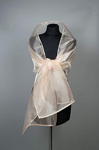 Ch/âle /Écharpe /Étole Organza Femme Mariage sur Robe de Soir/ée Mari/ée en rose