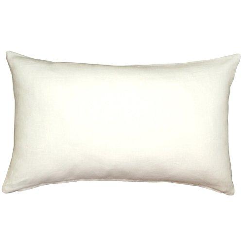 Amazon.com: PILLOW DÉCOR Tuscany Linen White 12x19 Throw ...