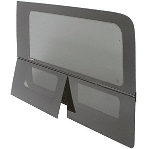 - CRL 2007+ OEM Design All Glass Look Sprinter Van Dual-Vent Driver Side Rear Quarter Panel Window for 170