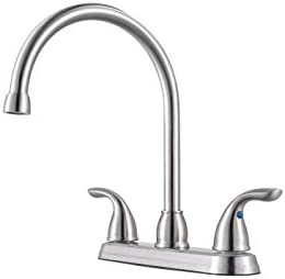 Pfister G136-200S Pfirst Series 2-Handle Kitchen Faucet in Stainless Steel, 1.8gpm