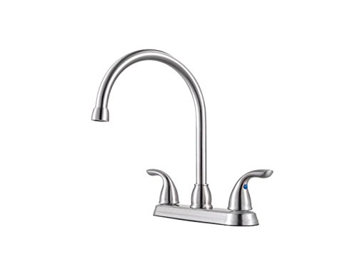 (Pfister G136-200S Pfirst Series 2-Handle Kitchen Faucet in Stainless Steel, 1.8gpm)