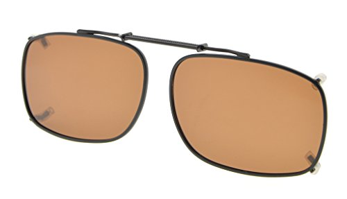 de lente Marco borde Marrón en polarizado Eyekepper sol clip metal de gafas 52x36MM Bpz1OW1q