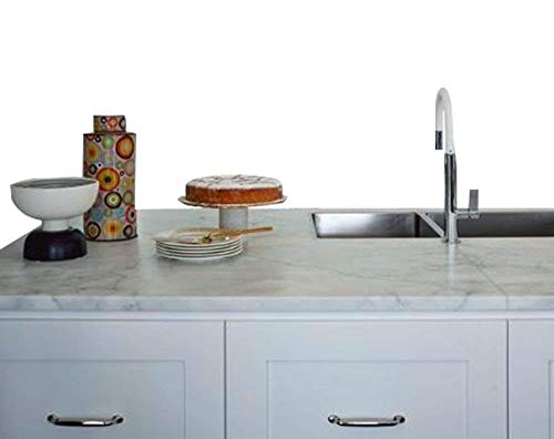 Faux Marble Counter - Countertop Paint? No! Instant White Italian Marble Not Your Grandma's Contact Paper 36