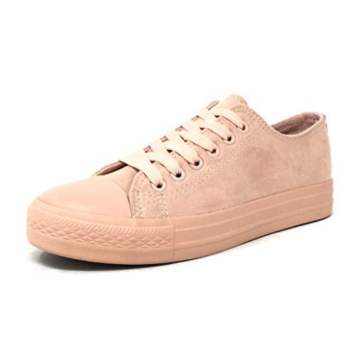 Moda Rosa Sneaker Comfortable Tacco 38 Basic Tennis Cm 666 3 Piatto 6 Donna T Angkorly Scarpe gFwPUqE5