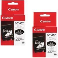 Bc 02 Black Cartridge - Canon Model BC-02 Black Cartridges, Pack Of 2