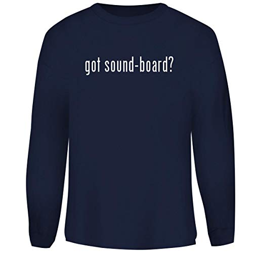 One Legging it Around got Sound-Board? - Men's Funny Soft Adult Crewneck Sweatshirt, Navy, Large