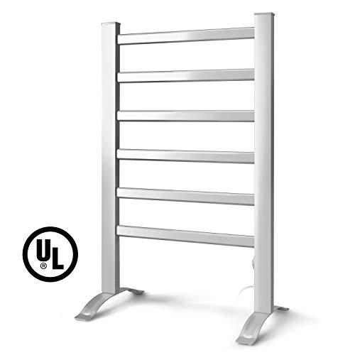 - INNOKA 2-in-1 Freestanding & Wall Mounted Heated Towel Warmer & Drying Rack (UL Certified), 6 Bars & Aluminum Frame