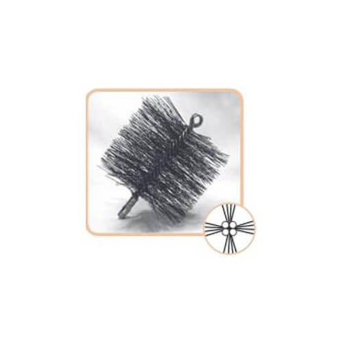 6'' Round Pro-Sweep Medium Duty Poly Chimney Brush (3/8'' MPT) by Schaefer Brush