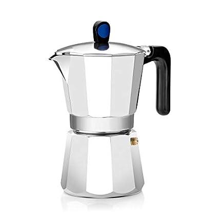 Monix Induction Express - Cafetera italiana inducción, aluminio, capacidad 12 tazas, color plata