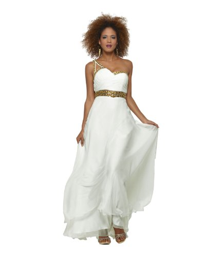 Clarisse Grecian Inspired Dress 2102, Ivory/Gold, -