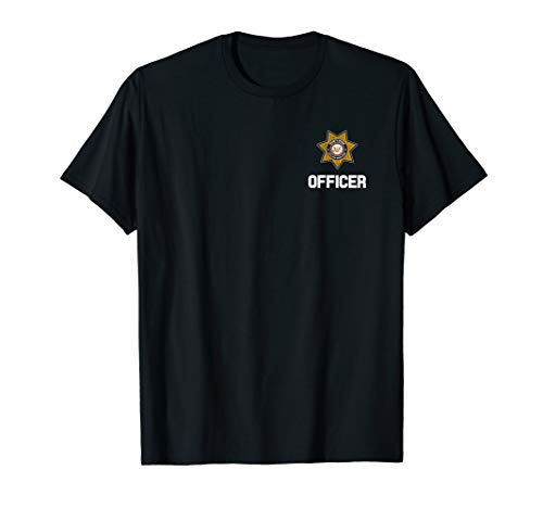Security Officer Enforcement Badge T-Shirt Police Guards