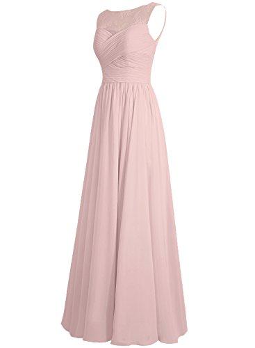 Linie Lang Abendkleider Chiffon Hochzeitskleider A Ballkleider Brautjungfernkleid Festkleider Himmelblau rOOwYn7q