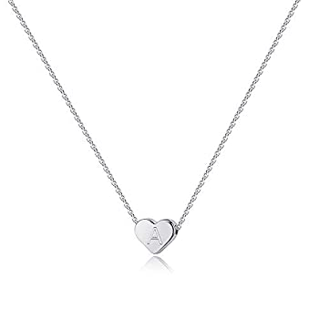 Coronary heart Preliminary Necklaces for Girls Ladies, 14K White Gold Crammed Coronary heart Pendant Letter Alphabet Necklace Preliminary Necklaces Youngsters Jewellery for Ladies Coronary heart Letter Preliminary Necklace Presents for Teen Ladies