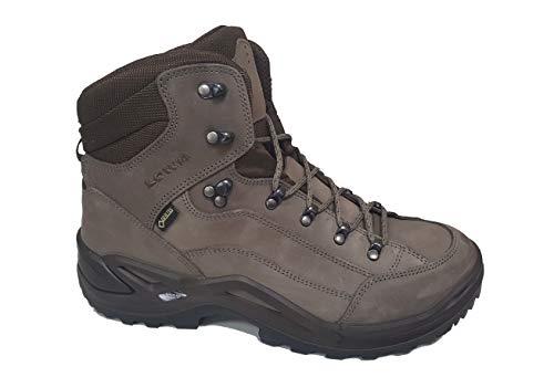 Lowa Men's Renegade GTX Mid Hiking Boot (10.5 Medium, Stone/Espresso)