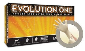 Microflex EV-2050-M Evolution One Exam Gloves, PF Latex, Textured, Medium, 100 per Box, 10 Box per Case (Pack of 1000) by Microflex (Image #1)