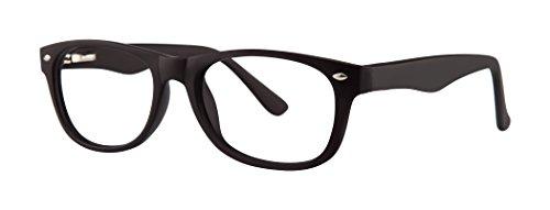Equal Unisex Eyeglasses - Modern Collection Frames - Black Matte 51-19-140
