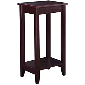 Amazon Com Dhp Rosewood Tall End Table Simple Design