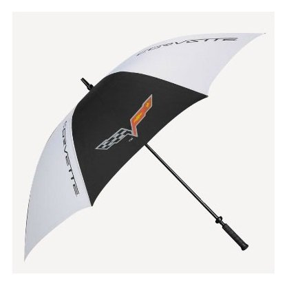C6 Corvette Black and White XL Golf Umbrella - No slip Handle
