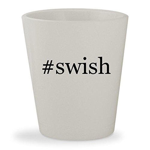 #swish - White Hashtag Ceramic 1.5oz Shot Glass