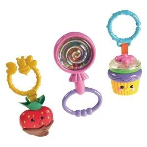 Toy / Game Fisher-Price Sweet Treats Peg Gift Set With Cupcake, Lollipop & Chocolate Covered Strawberry Teether
