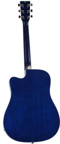 Jameson Guitars Full Size Thinline Acoustic Electric Guitar with Free Gig Bag Case & Picks Blue Right Handed - Image 2