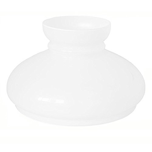 Abat-jour en verre de rechange pour lampes et lustres en fer et laiton Diamètre 24cm Blanc lait