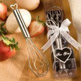 Heart Design Wire Wisk Favors, -