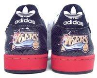 Adidas Heren Superster 1 Nba-serie - Philadelphia 76ers (zwart / R Wit / Universiteit Rood) -11,0