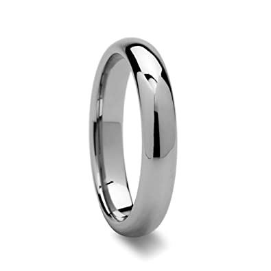 durable wedding men finish plain band rings amazon ring dp carbide tungsten polished fit com dominus comfort lightweight domed s