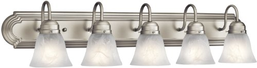 Kichler 5339NI Bath 5-Light, Brushed Nickel