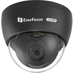 Everfocus ECD900FB, 2mp 1080p, 3.6mm, Coax BNC Connection Supports 1080p, 720p & 960H Analog Signal Output, which can be Easily Switched Using OSD Joystick, Indoor Dome Camera, Black - Everfocus Digital Camera