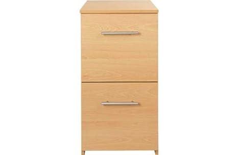 crazyshop - Mueble archivador con dos cajones, efecto de madera/roble, para oficina u hogar, color haya: Amazon.es: Oficina y papelería