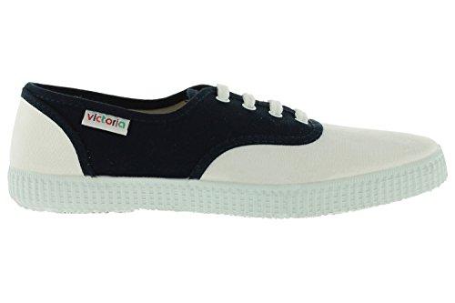 Victoria Inglesa Lona Unisexe - Sneaker Adulte Bleu Marine